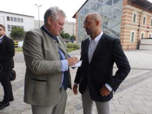 Regierungssprecher Zoltán Kovács und Fidesz-Vizeparteichef Gergely Gulyás betonten gegenüber Chiemseepost-Herausgeber Klaus Kirchleitner die guten Beziehungen zu Bayern.