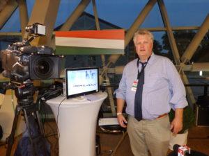 Chiemseepost-Herausgeber Klaus Kirchleitner verfolgte aufmerksam das EU-Referendum in Budapest.