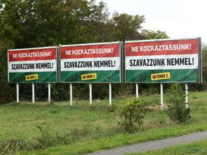 In die professionelle Werbekampagne zum EU-Referendum wurde in Ungarn viel Geld investiert.