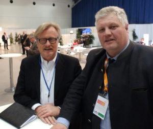 Einer der renommiertesten, deutschen Journalisten kam auch zum CSU-Parteitag. Hans-Ulrich Jörges und Klaus Kirchleitner.